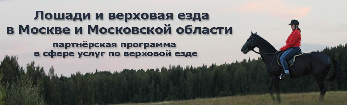 Лошади и верховая езда в Москве и Московской области. Партнёрская программа сотрудничества для конников, конных клубов, школ верховой езды.